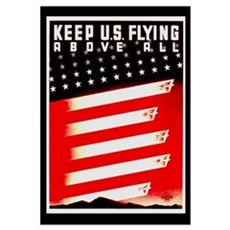 Keep US Flying Canvas Art