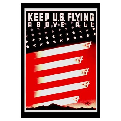 Keep US Flying Framed Print