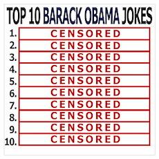 Top 10 Obama jokes Poster