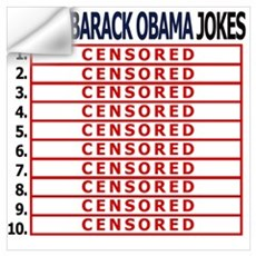 Top 10 Obama jokes Wall Decal