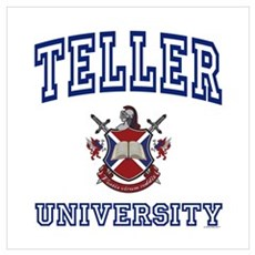 TELLER University Canvas Art