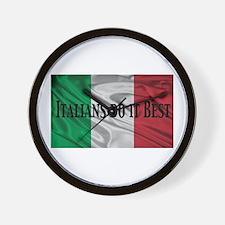Italians Do It Best Wall Clock