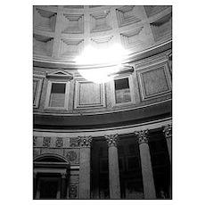 Lg. Framed Rome Pantheon Print Poster