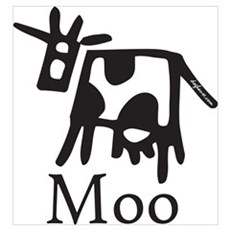 Moo Canvas Art