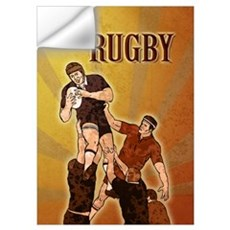 rugby player line out Wall Decal