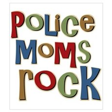 Police Moms Rock Law Enforcem Framed Print