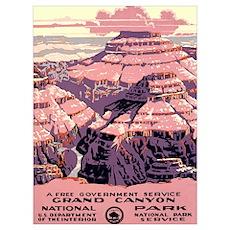 1930s Vintage Grand Canyon National Park Framed Pa Poster