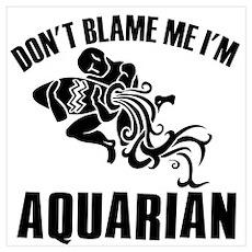 Don't blame me I'm Aquarian Poster