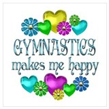 Gymnastics Wrapped Canvas Art