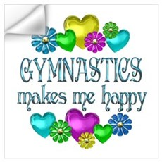 Gymnastics Happiness Wall Decal