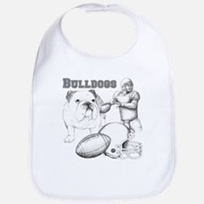 Bulldog Collage Bib