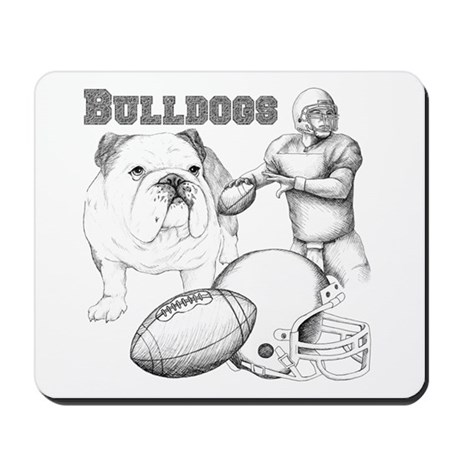 Bulldog Collage Mousepad