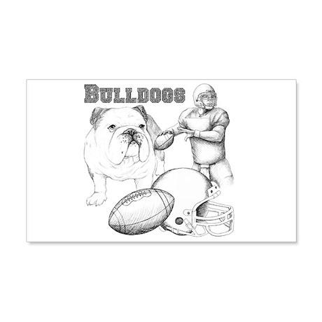 Bulldog Collage 22x14 Wall Peel