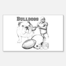Bulldog Collage Sticker (Rectangle)