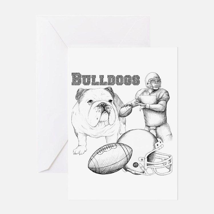 Bulldog Collage Greeting Card