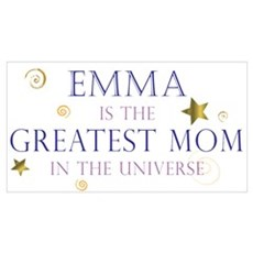 Emma is the Greatest Mom Canvas Art