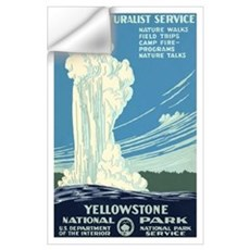 1930s Vintage Yellowstone National Park Large Post Wall Decal