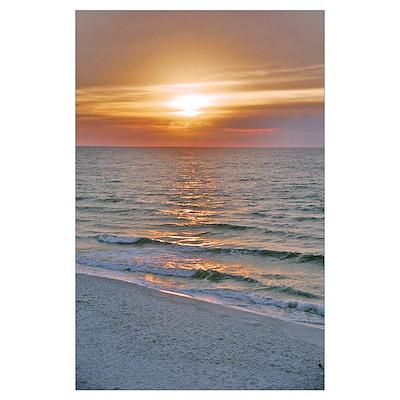 Pensacola Beach Sunrise Poster