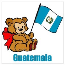 Guatemala Teddy Bear Poster
