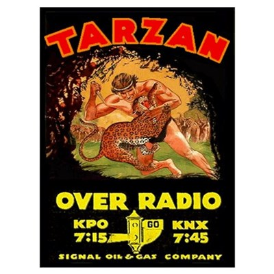 Large Tarzan Radio Show Canvas Art