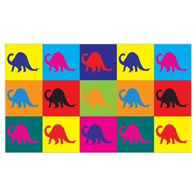 Paleontology Pop Art Canvas Art