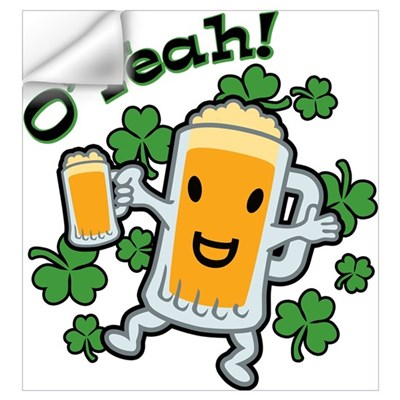 St Patrick's Day Happy Beer Guy Wall Decal