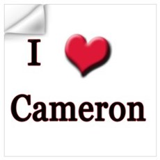 I Love (Heart) Cameron Wall Decal