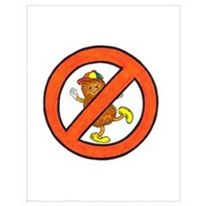 No Peanuts Allowed Poster