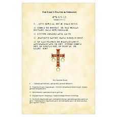 Cherokee Lord's Prayer Poster