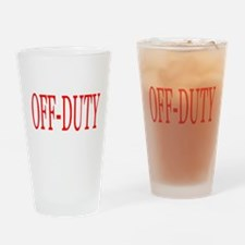 Off-Duty (Red) Drinking Glass