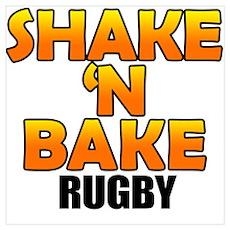 Shake 'N Bake Rugby Poster