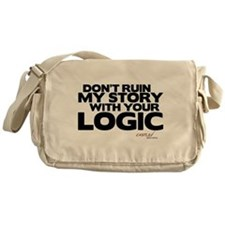 My Story... Your Logic Canvas Messenger Bag