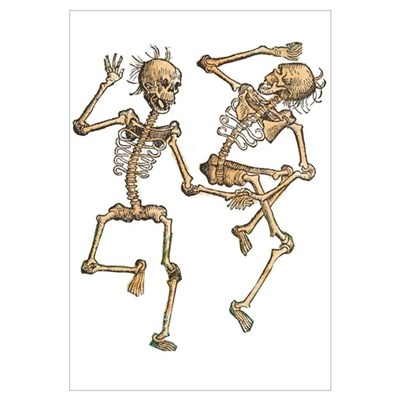 Dancing Skeletons Canvas Art