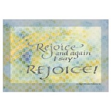 Rejoice calligraphy Poster