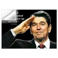 Reagan - We Are Never Defeated... Wall Decal