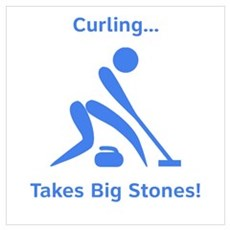 Curling Takes Big Stones! Canvas Art