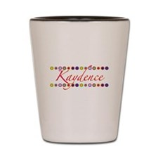 Kaydence with Flowers Shot Glass