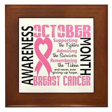 Breast Cancer Awareness Month Framed Tile