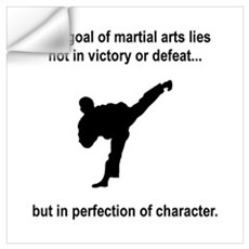 Martial Art Character Wall Decal