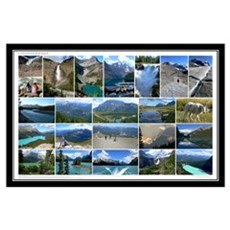 Canadian Rockies Collage Poster