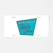 Mom's Diner Breast Milk Aluminum License Plate
