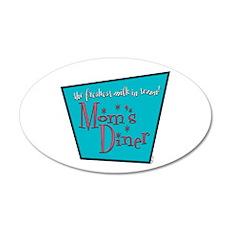 Mom's Diner Breast Milk 22x14 Oval Wall Peel