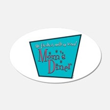 Mom's Diner Breast Milk 22x14 Oval Wall Peel