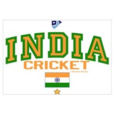 IN India Indian Cricket Poster