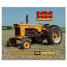 Minneapolis Moline Tractor Poster