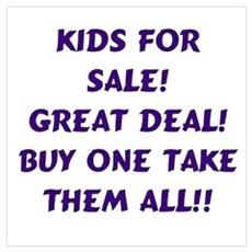 Kids For Sale Purple Poster