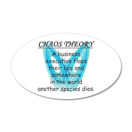 Chaos Theory - Species Loss 22x14 Oval Wall Peel
