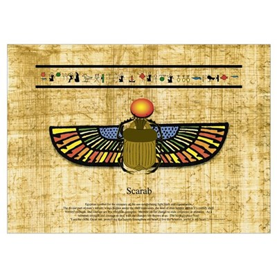 Egyptian Scarab Poster
