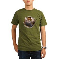 Organic Men's Moose Hunting T-Shirt (dark)
