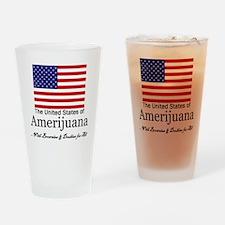 Amerijuana Drinking Glass
